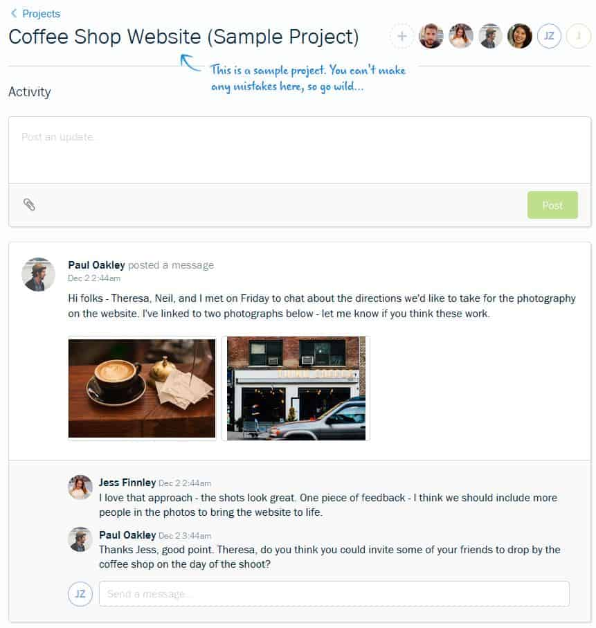 FreshBooks Project Dashboard