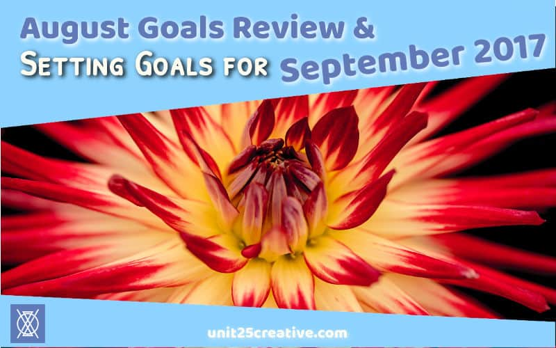 Setting goals is crucial for growing your business! Without them, you won't have accountability and motivation. Check out the goals for Unit 25 Creative + Consulting in September 2017, see what we learned from our August goal successes and failures, and share your own goals for feedback and to help you reach them!