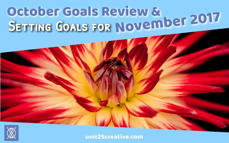 Setting goals is crucial for growing your business! Without them, you won't have accountability and motivation. Check out the goals for Unit 25 Creative + Consulting in November 2017, see what we learned from our October goal successes and failures, and share your own goals for feedback and to help you reach them!