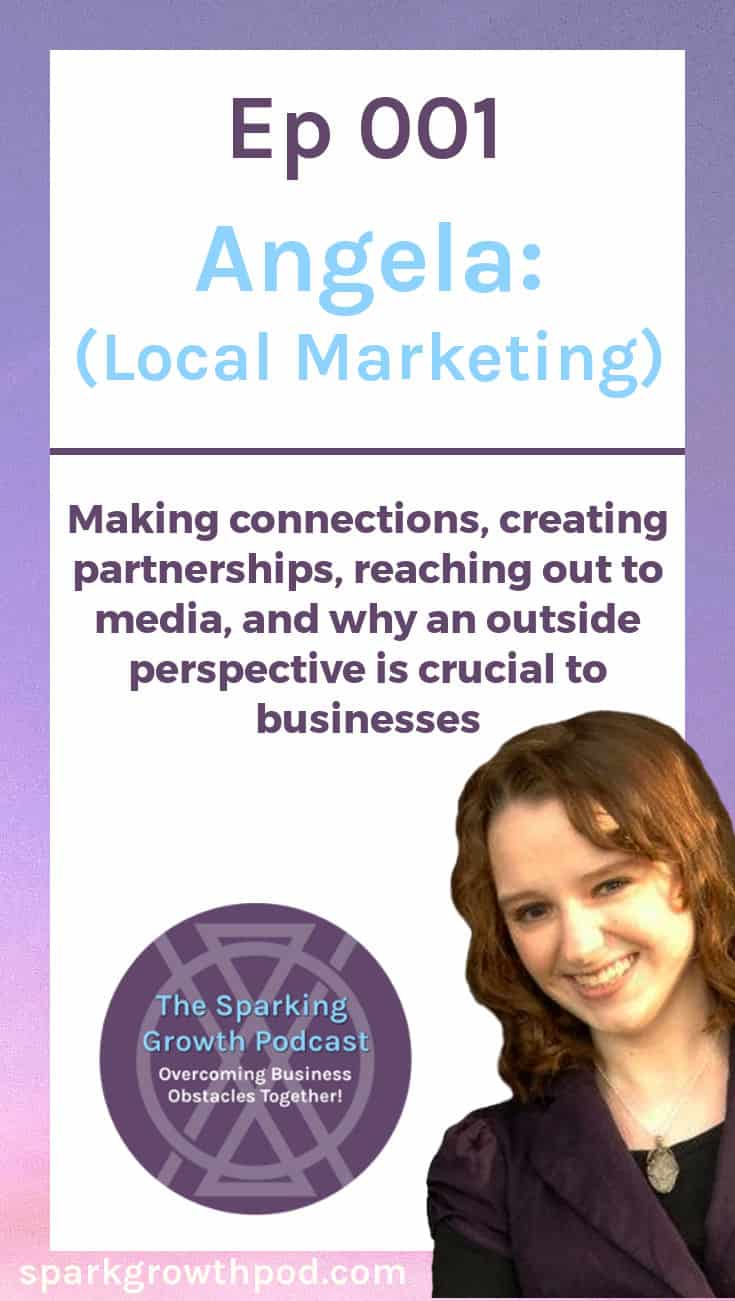 In this episode of the Sparking Growth Podcast, Jenn talked with Angela, a personal stylist from St. Louis about local marketing strategy. In this episode, Jenn worked with Angela to find opportunities to identify and connect with her ideal clients, create mutually beneficial business partnerships, and get the word out about her services. | customers, public relations, PR, small business, ideas, tips, tricks, how to, target market, ideal client