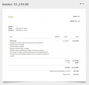 17hats vs Dubsado - Invoice - CRM and Business Management Suite for Creatives and Entrepreneurs