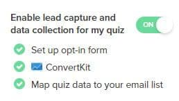 Enable ConvertKit Lead Capture in Interact Quiz