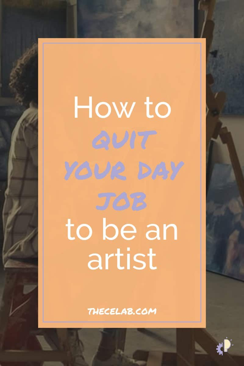 Want to make a living with your art? You can do it! I know it can be scary to quit your day job, but there are some things you can do to make the transition easier. Once you have an action plan in place, you'll be ready to make the leap to a [not starving!] artist. / #artbusiness #sellart #workathome / how to sell paintings, how to, inspiration
