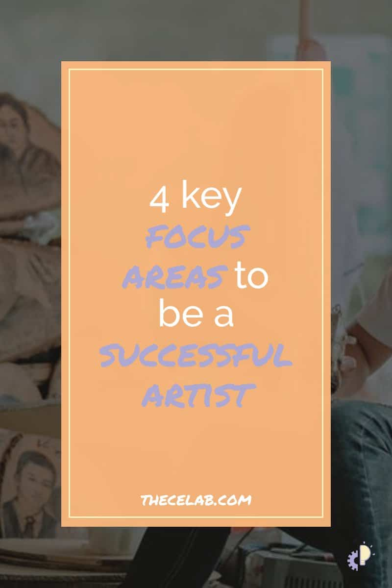 Running an art business isn't easy. You need to know how to do marketing, have a business plan, price your artwork correctly, and so much more! So where do you put your effort in the midst of all that? Here are four key areas to focus on for a successful art business! / #artbiz #artmarketing #sellart #artist / make money, art marketing, selling your art online, ideas, tips, social media, build an audience, art sales