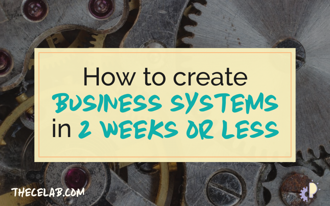 How to create business systems in less than 2 weeks