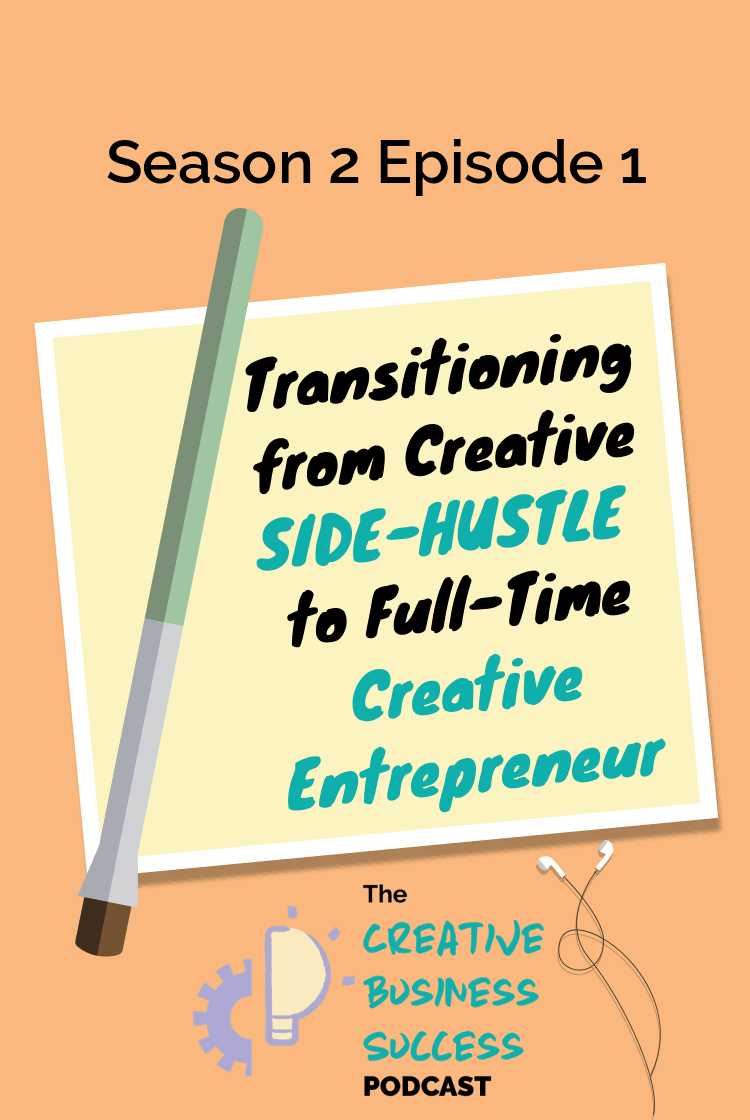 If you're ready to go full-time with your creative side-hustle, you're in the right place! Joyce from The Modern Creative is giving you the best tips and strategies to go from creative side-hustle to full-time creative entrepreneur. Whether you're an artist, photographer, designer, or maker, you've got this! / #thecelab #podcast #creativeentrepreneur #goingfulltime / photography business, design business, art business, creative business